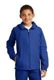 Youth Hooded Raglan Jacket True Royal Thumbnail