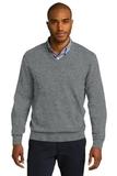 Port Authority V-neck Sweater Medium Heather Grey Thumbnail
