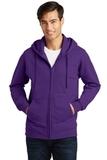 Port & Company Fan Favorite Fleece Full-Zip Hooded Sweatshirt Team Purple Thumbnail