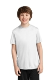 Youth Essential Performance Tee White Thumbnail