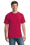 Heavy Cotton 100 Cotton T-shirt Heather Red Thumbnail