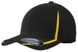 Flexfit Performance Colorblock Cap Black with Gold Thumbnail