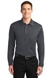 Silk Touch Performance Long Sleeve Polo Steel Grey Thumbnail