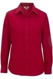 Women's Long Sleeve Service Shirt Red Thumbnail