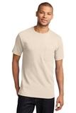 100 Cotton T-shirt With Pocket Natural Thumbnail