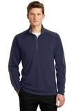 Sport-Wick Textured Colorblock 1/4-Zip Pullover True Navy with Iron Grey Thumbnail