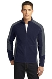 Port Authority Colorblock Microfleece Jacket True Navy with Pearl Grey Thumbnail