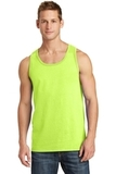 5.4 oz. 100% Cotton Tank Top Neon Yellow Thumbnail