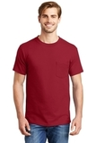 Beefy-t 100 Cotton T-shirt With Pocket Deep Red Thumbnail