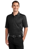 Select Snag-proof Tipped Pocket Polo Black with Smoke Grey Thumbnail