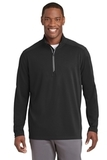 Sport-Wick Textured 1/4-Zip Pullover Black Thumbnail