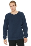 BELLACANVAS Unisex Sponge Fleece Raglan Sweatshirt Heather Navy Thumbnail