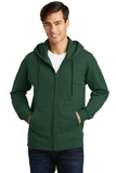 Port & Company Fan Favorite Fleece Full-Zip Hooded Sweatshirt Forest Green Thumbnail