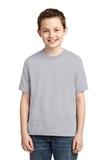 Youth 50/50 Cotton / Poly T-shirt Silver Thumbnail