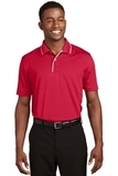 Dri-mesh Polo Shirt With Tipped Collar And Piping Red with White Thumbnail