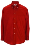 Men's Button Down Poplin Shirt LS Red Thumbnail