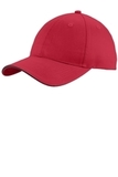 Unstructured Sandwich Bill Cap Red with Black Thumbnail