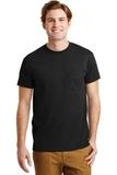 Ultra Blend 50/50 Cotton / Poly T-shirt With Pocket Black Thumbnail