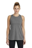 Women's Tri-Blend Wicking Tank Dark Grey Heather Thumbnail