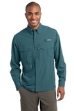 Eddie Bauer Long Sleeve Performance Fishing Shirt Gulf Teal Thumbnail