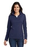Women's Pinpoint Mesh 1/2 Zip Pullover True Navy Thumbnail