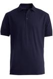 Men's Short Sleeve All Cotton Pique Polo Navy Thumbnail