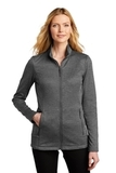 Ladies Collective Striated Fleece Jacket Sterling Grey Heather Thumbnail