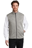 Sweater Fleece Vest Grey Heather Thumbnail