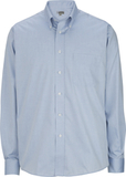 Redwood & Ross Men's No-iron Pinpoint Oxford Button Down Dress Shirt Light Blue Thumbnail