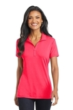 Women's Cotton Touch Performance Polo Hot Coral Thumbnail