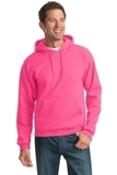 Pullover Hooded Sweatshirt Neon Pink Thumbnail