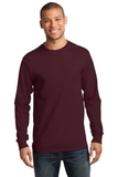 Tall Long Sleeve Essential T Athletic Maroon Thumbnail