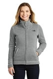Women's The North Face Sweater Fleece Jacket TNF Medium Grey Heather Thumbnail