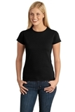 Women's Softstyle Ring Spun Cotton T-shirt Black Thumbnail