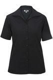Women's Easy Care Poplin Shirt SS Black Thumbnail
