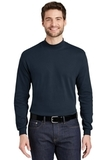 Interlock Knit Mock Turtleneck Navy Thumbnail