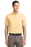Short Sleeve Easy Care Shirt Yellow Thumbnail