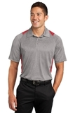 Heather Colorblock Contender Polo Vintage Heather with True Red Thumbnail