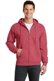 7.8-oz Full-zip Hooded Sweatshirt Heather Red Thumbnail