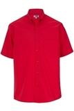 Men's Easy Care Poplin Shirt SS Red Thumbnail