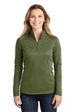 Women's The North Face Tech 1/4-Zip Fleece Burnt Olive Green Thumbnail