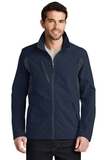 BackBlock Soft Shell Jacket Dress Blue Navy with Battleship Grey Thumbnail