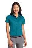 Women's Short Sleeve Easy Care Shirt Teal Green Thumbnail