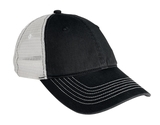 Mesh Back Cap Black with White Thumbnail