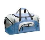 Colorblock Sport Duffel Carolina Blue with Grey Thumbnail