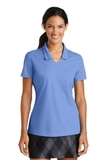 Women's Nike Golf Shirt Dri-FIT Micro Pique Polo Shirt Valor Blue Thumbnail