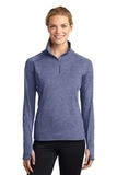 Women's Stretch 1/2-zip Pullover True Navy Heather Thumbnail