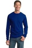 Moisture Management 50/50 Cotton / Poly Long Sleeve T-shirt Royal Thumbnail
