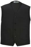Two Pocket Apron Vest Black Thumbnail