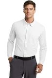 Port Authority Dimension Knit Dress Shirt White Thumbnail